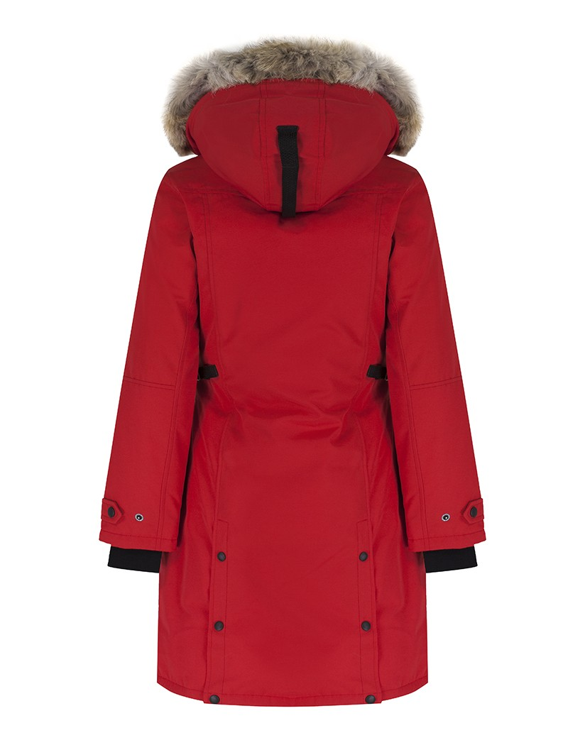 CANADA GOOSE WOMEN'S KENSINGTON SLIM FIT PARKA JACKET – RED ...
