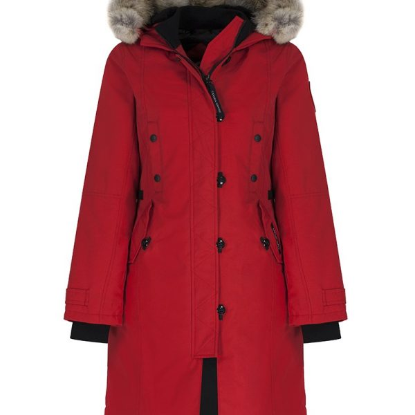 CANADA GOOSE WOMEN'S KENSINGTON SLIM FIT PARKA JACKET – RED