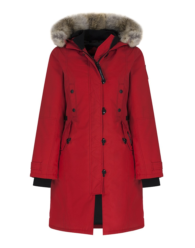 CANADA GOOSE WOMEN S KENSINGTON SLIM FIT PARKA JACKET – RED - Canada ... 7fa5d4e2c