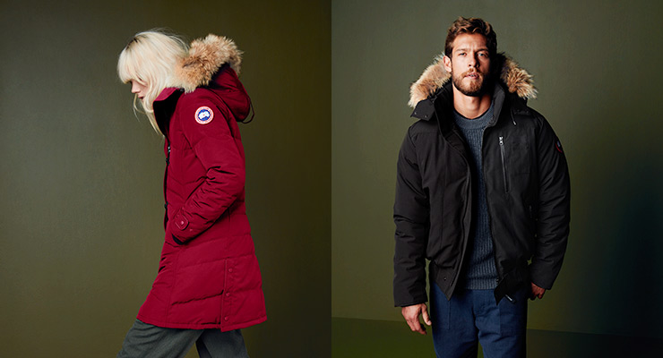 red canada goose puffer jacket